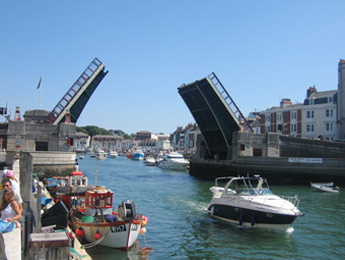 View of Weymouth Harbour and Swing Bridge